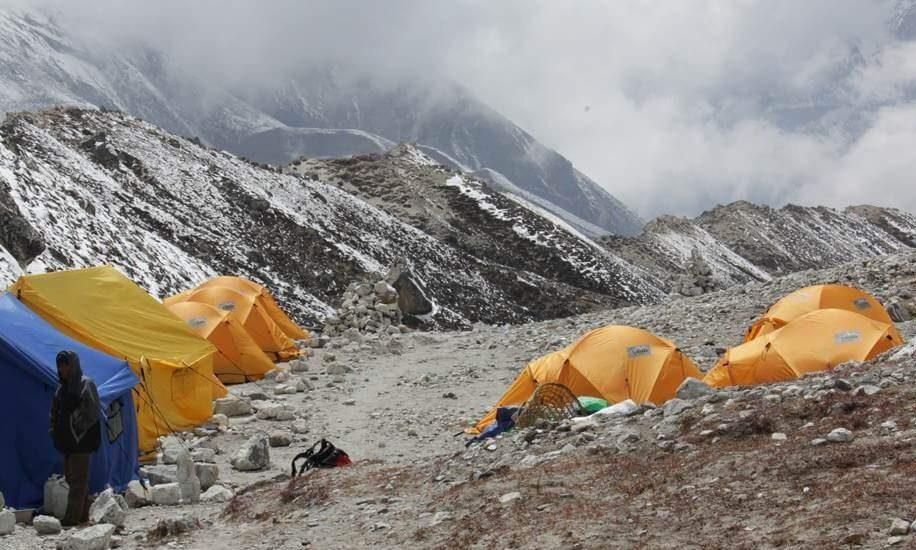 Camping for Peak climbing
